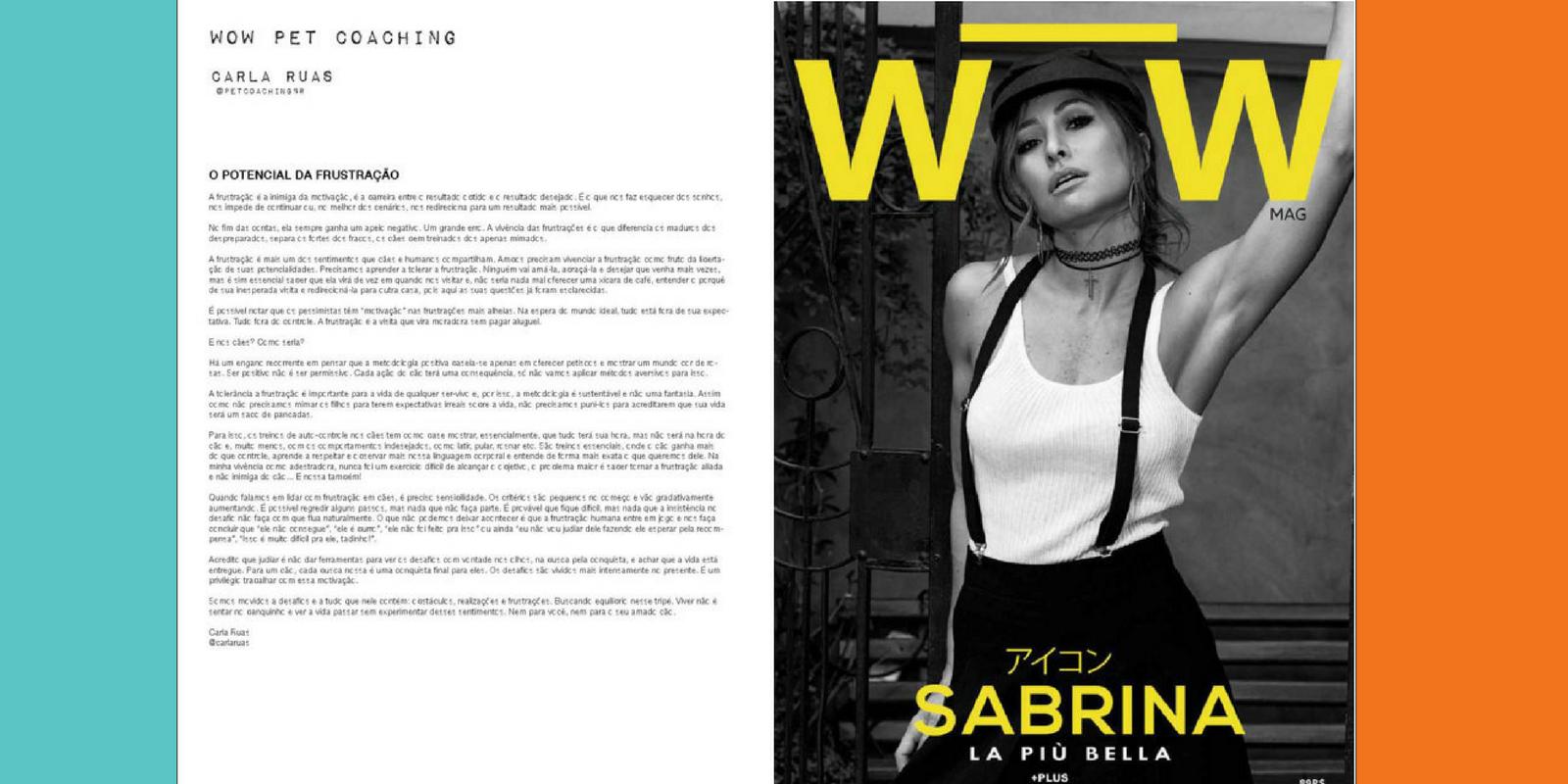 Lambeijos, Carla Ruas - Coluna #3 WOW PetCoaching: O Potencial da Frustração